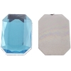 Acrylic Octagon 18x13mm Aqua